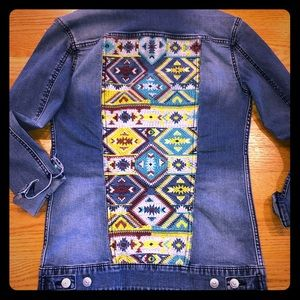 LuLaRoe Jax denim Aztec print